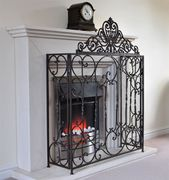 Traditional Ornate Fire Guard Screen SurroundCottage Farmhouse Vintage Look