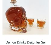 Creepy-Cool drinks Decanter and two skull glasses a brilliant gift idea this Fat…