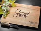 Personalized Cutting Board, Engraved Cutting Board, Custom Cutting Board, Wedding Gift, Housewarming Gift, Anniversary Gift, Home Sweet Home
