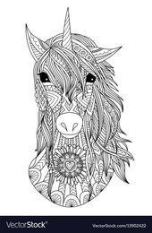 Unicorn Coloring Page 1192 Mandala Tiere Mandala Ausmalen Hundezeichnung