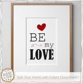 Vorlage – Be my love – inkl.Geschenkanhänger, Kunst Selbermachen, Liebe, Love, my love, Poster Trend, Ideen&Aktionen@Facebook
