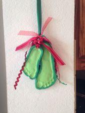Salt dough Christmas ornament. Mistletoes – #Chris…