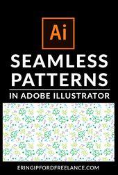 Illustrator Shortcuts  Adobe Illustrator Tutorial: How to Create a Seamless Pattern Swatch #seamlesspat...