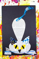 Cool Cat Newspaper Art Project for Kids – Basteln
