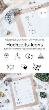 Hochzeits-Symbole zum kostenlosen Download • Yeah Handmade