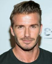 another photo of david beckham, with short slicked, back brunette hair, trendy h… #Undercut Hairstyles For Men