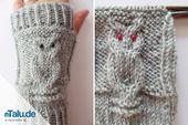 Knitting Arm Warmers – Einfaches DIY Tutorial für Owl Pattern   – Handarbeit – DIY-Anleitungen