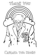 Free Captain Tom Moore Colouring In Sheet Nhs Tom Moore Fairy Silhouette Coloring Books