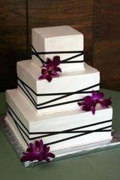30 wunderschöne quadratische Hochzeitstorte Ideen   – Wedding cakes