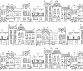 Colorful fabrics digitally printed by Spoonflower – Down Our Street – Drawing
