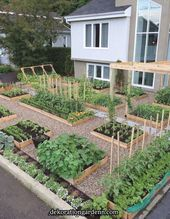 25+ Creative Grow Fruit and Vegetables In a Cool Raised Garden Bed #gardendesign #gardenideas #gardening