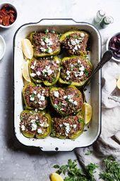 Truthahn Quinoa Gefüllte Paprika   – Low carb foods