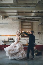 Poetic Warehouse Wedding Inspiration with Ruffled Details