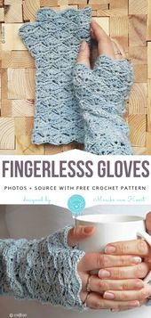 Fingerlose Handschuhe Gratis Häkelanleitung