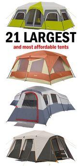 Stora familjecampingstält som är mycket prisvärda. #camping #familycamping #ca …