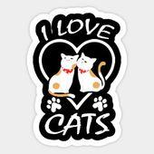 I Love Cats – I Love Cats – T-Shirt | TeePublic