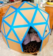 Build this spectacularly-shaped cardboard house.