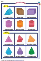 Prisms And Pyramids Chart 3d Shapes Worksheets Shapes Worksheets Prisms