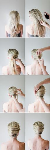 DIY Casual Updo Französisch Twist Hair Banana Bilder Guide - Frisuren & Make-up