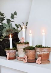 Advent DIY l Advent wreath for Christmas crafts …
