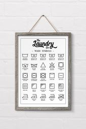 Free Printable Laundry Symbols Wall Art – #d …