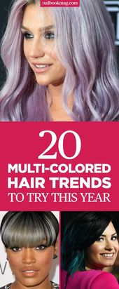 16 Ideen für mehrfarbiges Haar die Sie dieses Jahr ausprobieren sollten