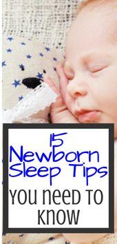15 conseils de sommeil pour les nouveau-nés pour aider bébé à dormir toute la nuit – New Mom Life   – Baby/Children clothing