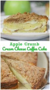 OMG Apple Crumb Cream Cheese Coffee Cake