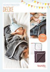 DIY-Anleitung Die erste Decke ist etwas ganz Besonderes: weich, warm, im …   – Babys · Schnittmuster & Nähanleitungen