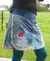 Wickelrock Pattern Flowerpower Jeans   – Nähen – Inspirationen