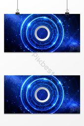 Business technology blue future information age ring background | PSD Free Download – Pikbest