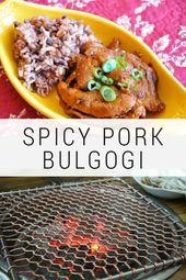Pork Bulgogi (돼지 불고기 Dweji Bulgogi)