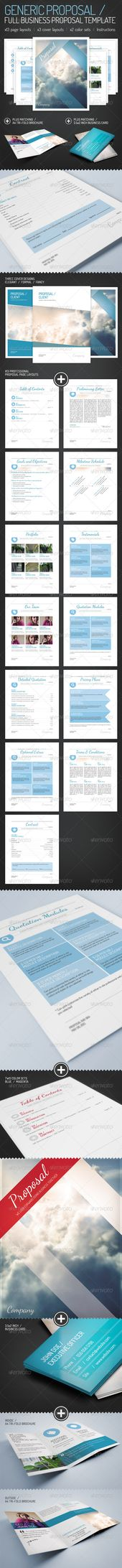 Web Design Business Proposal Template - Proposals \ Invoices - generic business proposal template