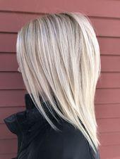 Coiffures simples pour les cheveux avec des cheveux moyens – #easy coiffures #pour # cheveux #mi