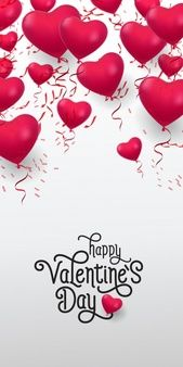Download Happy Valentine Day Lettering Inscription With Heap Of Balloons For Free Happy Valentines Day Happy Valentines Day Images Happy Galentines Day