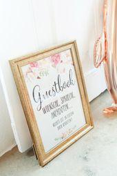 Schild für das Gästebuch bei der Hochzeit Foto:…