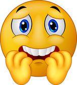 Caricature de smiley emoticon peur — Image vectorielle | Emoticone gratuit, Émoticônes animées, Emoticone
