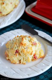 Bacon Cheddar Chive Drop Biscuits