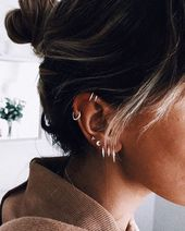 30 Ohrpiercings für Frauen Schöne und süße Ideen – accessoires Schmuck
