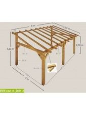 Rahmen im Bausatz. Diese Markise SHERWOOD 5mx3 Holz ist …