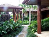 Image result for tropical garden front entrance design   – Outdoor & Garden