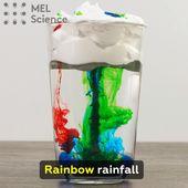 Rainbow rainfall