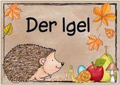 """Ideenreise: Themenplakat """"Der Igel"""" – #Der #Ideenr…"""