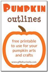 Free printable pumpkin outlines