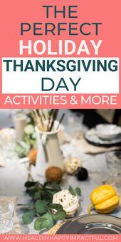 Erntedankfest-Aktivitäten und mehr für den perfekten Urlaub! Vergiss nicht … – thanksgiving fun for kids