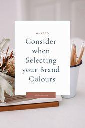 Qué considerar al seleccionar los colores de su marca   – Branding Inspo & Tips