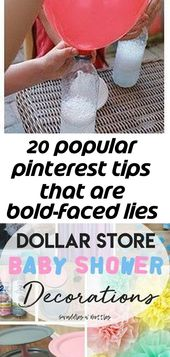 20 popular pinterest tips that are bold-faced lies 2 – Baby Shower