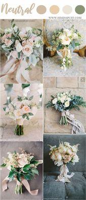 Farbtrends für Hochzeiten 2019: 45 neutrale Farbideen für Frühlingshochzeiten