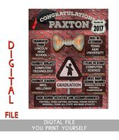 Unique Graduation party decorations are one of our specialities and our personalized graduation poster makes a great graduation centerpiece for the gr...