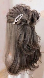 #schön #Frisur #silberne Haare Highlights Videos Wie wäre es mit dieser Frisur? Es ist wunderschön.